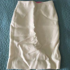Winter white wool pencil skirt // J. Crew